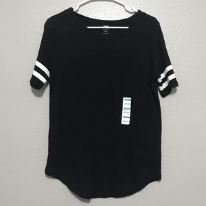 Old Navy Black Relaxed Fit Short Sleeve T-shirt